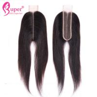 "22"" Virgin Hair Closures , Lace Closure 2x6 Bleached Knots Hair Weave Manufactures"