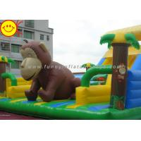 Customized Inflatable Fun City Giant Monkey Bouncer With Slide For Animal Amusement Park Manufactures