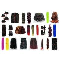 Synthetic hair weaving,hair weft,Afro kinky,dreadlock,draw string,spring curl,bebe curl,hair braid.. Manufactures