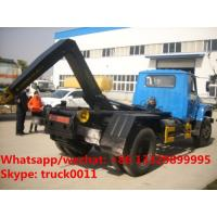 Quality Factory sale dongfeng long nose 6m3 hook lift garbage truck, wholesale lower for sale