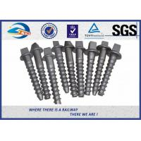Quality Custom Railroad Screw Spikes Q235 Concrete Sleepers Grade 5.6 for sale