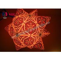 Customized 2 M diameter Inflatable LED Star Inflatable Balloon Decoration Locations Manufactures