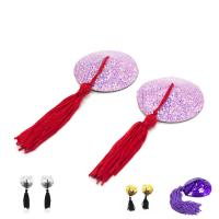 Female Toys Tassels Nipple Covers / Breast Pads Round Shaped , Sex Bondage Toys Manufactures