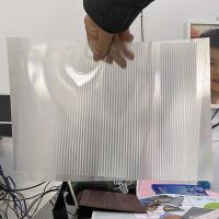 Super transparency lenticular sheet clear PET Lenticular 75 lpi lens sheet 3D flip lenticular lens sheet Manufactures