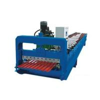 Quality Galvanized Metal Corrugated Sheet Roll Forming MachineWith Hydraulic Cutter for sale