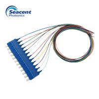 12 Color Beam Fiber Pigtail , Lc Upc Pigtail High Return Loss ROHS Approved Manufactures