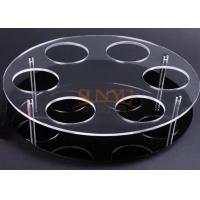 Black Acrylic Jewelry Stand Jewelry Display Rack With Laser Cutting Manufactures