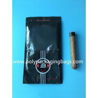 Custom classic black cigar bag general zipper plastic moisturizing bag with 4-6 cigars Manufactures