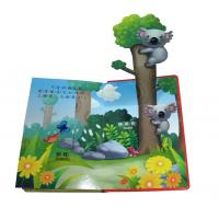 Quality Customizable Colorful 3D Paper Board Childrens Book Printing Service with varnishing for sale