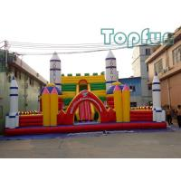 Rocket Launch Centre Jumping Castle 10m x 10m Customized For Amusement Park Manufactures