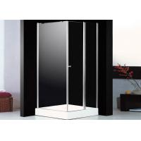 Pivot Folding Glass Door Square Shower Enclosure Glass With Shower Tray Chrome Profile Manufactures