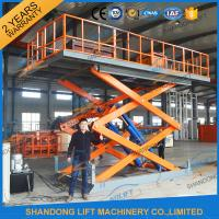 4.7M 3T Hydraulic Scissor Car Lift , Electric Car Parking Lift CE TUV SGS Home Use Manufactures