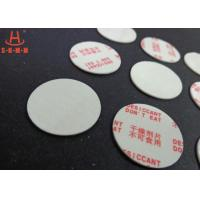 Environmental Filmed Fiber Small Desiccant Packs 1.0mm Thickness , Circle Shaped Manufactures