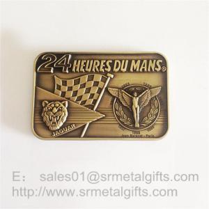 Custom made Antique brass metal emblem plate sign plaques, zinc alloy, Manufactures