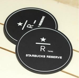Eco-friendly silicone black 8.5 cm tea cup coaster Manufactures