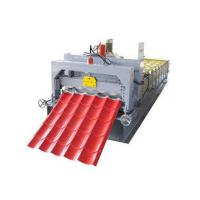 Circle Arc Glazed Tile Roll Forming Machine , PPGI Roofing Sheets Machine Manufactures