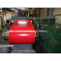 0.13 X 1219MM Prepainted Steel Coil , Red Color Coated Coil G550 Z60 Manufactures