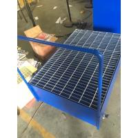Galvanized Steel Pallet Spill Containment Drum Platform For Multi Drums Storing trolley Manufactures