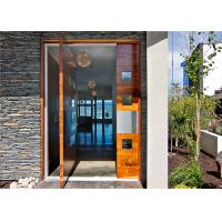 External Center Pivot Solid Wood Doors Tempered Glass Painting Surface Treatment Manufactures