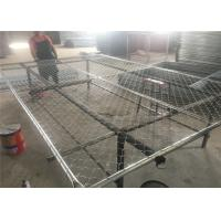 """16GA/ 1.6mm thick  1⅗""""(40mm) pipes cross brace chain wire mesh 2""""x2"""" (50mm x 50mm) 8ftx12ft construction temp fence Manufactures"""