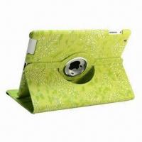 New 360 Degrees Rotation Leather Case for iPad 2/3, Many Different Colors Available Manufactures