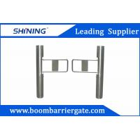 Supermarket Swing Barrier Gate / Traffic Barrier Gate With Barcode Scanner Manufactures