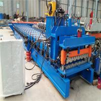 Auto Control Control System Metal Roof Tile Glazed Tile Roll Forming Machine 2-3 M/Min Manufactures