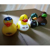 Decorated Multi Colored Rubber Ducks , Eco Friendly Fun Bath Toys For Toddlers Manufactures