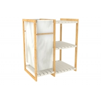 MDF 65cm Length Laundry Hamper With Rack For Bedroom Manufactures
