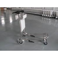 Mini Three Wheels Metal Supermarket / Airport Luggage Trolley With Brake 300KGS Manufactures