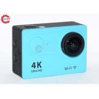 2.0 Inch LCD Blue 4k Sports Action Camera FHD Wide Angle With Water Proof Case Manufactures