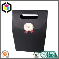 Quality Black Cardboard Paper Bag; Gift Packaging Bag; Black Paper Bag; Velcro Close Bag for sale