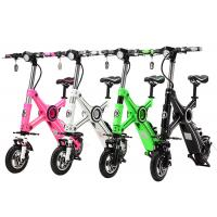 Lithium Battery 36V Two Wheel Electric Bike , Foldable Electric Bikes For Adults Manufactures