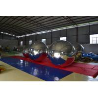 0.3mmPVC Inflatable Advertising Balloons , Reflective Snow Outdoor Decorative Mirror Ball Manufactures