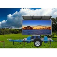 China P10 Solar Powered led Mobile Sign Screen Trailer mounted for Outdoor Advertising on sale