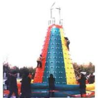 Funny Exciting PVC Inflatable School Rock Climbing Wall , 6 Meter Manufactures