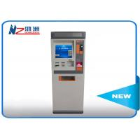 Touch ATM kiosk floor standing payment terminal with cash deposit acceptor Manufactures