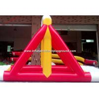 Commercial Inflatable Water Games Rentals , Yellow / Red Inflatable Swing Manufactures