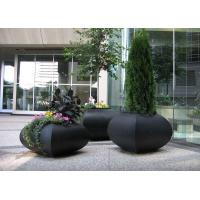 Professional Large Stainless Steel Planters For Building / Public Decoration Manufactures