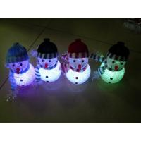 Quality Rainbow Color Changing LED Flashing Snowman Toy Holiday Party No Peculiar Smell for sale