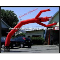 Outdoor Advertising Wavy Inflatable Arm Guy , Red Wavy Tube Man With Smiling Face Manufactures
