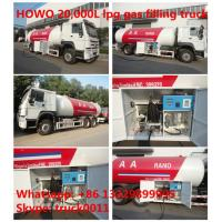 HOWO brand 10.5tons mobile lpg gas dispensing truck for sale, HOWO brand bulk road lpg gas dispensing truck for retails Manufactures
