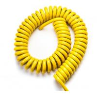 Shielded Spiral Power Cable With Outer PUR Sheath , Coiled Electrical Cable UL Manufactures