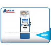 Dual Touch Screen Coin Counting Kiosk Display Stands Multi Languages Supported Manufactures