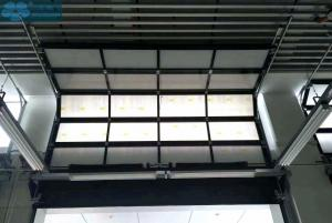 Mute Aluminum Alloy Frosted Glass Garage Door For Villa Manufactures
