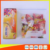 Resealable Clear Ziplock Snack Bags For Food Packaging Eco Friendly Manufactures