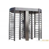 Stainless Steel Full Height Turnstiles Gate RS 485 Security Rotary Turnstile Manufactures