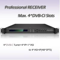 RSR1114 Four-Channel Professional Receiver IRD DVB-T2 Tuner input UDP/IP TPTV Streaming Output Manufactures