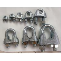 DIN 741 Wire Rope Clamp , Wire Rope Clips With Malleable Iron Material Manufactures