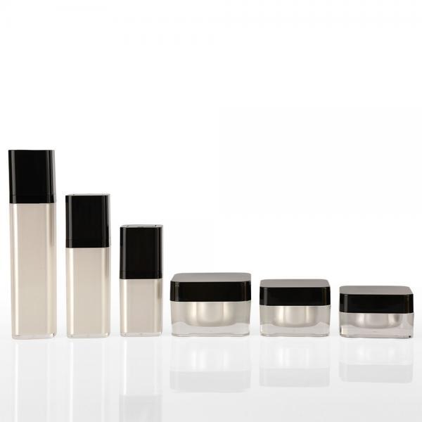 Quality Black Plastic Screw Lid 15g 30g 50g Cosmetic Acrylic Jar for sale